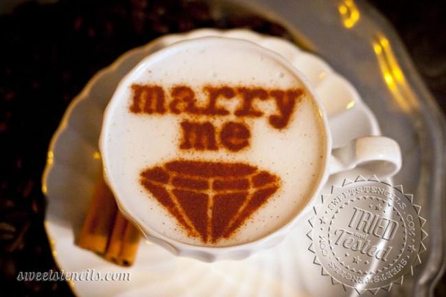 Coffee Stencils - Marry Me!
