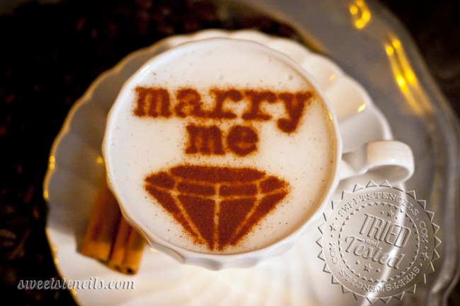 Coffee Stencils - Marry Me!